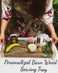 DIY personalized barn wood serving tray made with wood burner ...