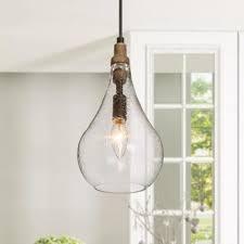 seeded glass island pendant lights