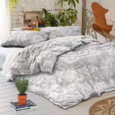 details about sliver flower mandala indian cotton duvet cover bohemian bedding quilt cover set