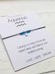 excited to share the latest addition to my etsy aquarius bracelet birthday gift zodiac sign jewelry zodiac bracelet aquarius gift horoscope bracelet