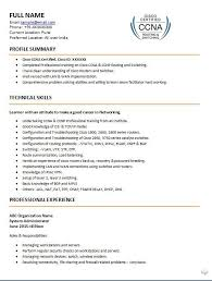 Cisco Certified Network Associate Sample Resume