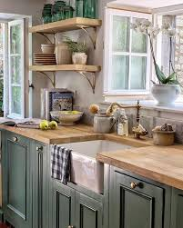 Pin by Melinda Gregory on Kitchen ideas in 2020 | Green country kitchen,  Country kitchen designs, Country kitchen