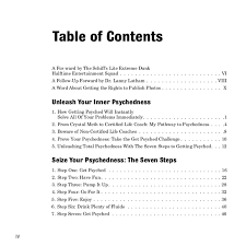 front cover table of contents 1