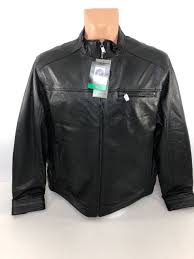 new boston harbour men s new zealand lambskin leather black jacket sz xl ml5