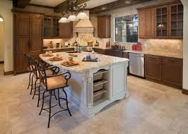 countertops dark wood kitchen islands table: nice white wooden kitchen island cooktop with cream color marble countertops and double bowl kitchen sink and brown color wicker storage baskets together
