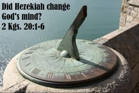 Image result for God did a miracle with the sun dial for hezekiah