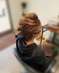 平原さんのヘアスタイル ボブアレンジ前髪から編み込 Tredina