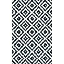 black and white area rug rugs chevron zigzag