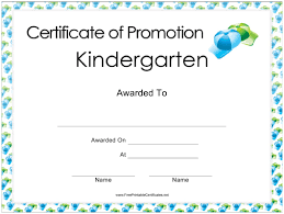 Promotion Certificate Template Kindergarten Promotion Certificate Template Download Printable Pdf