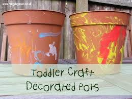 craft decorated pots for sunflowers