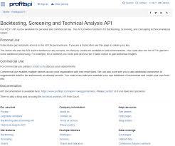 Profitspi Stock Chart Profitspi Backtesting Api Overview Documentation
