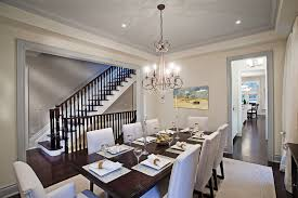 dazzling parson chair in dining room contemporary with dark table light chairs next to trey ceiling
