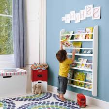 kid bookshelf on wall