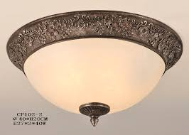 ceiling light fixture wide peach glass bronze