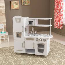 Kid Craft Retro Kitchen White Vintage Play Kitchen