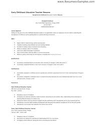 Templates A Preschool Teacher Resume Template Free Thewhyfactorco Magnificent Early Childhood Education Resume