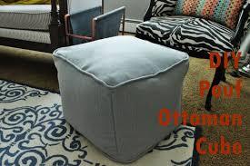 DIY Pouf Ottoman Cube Project