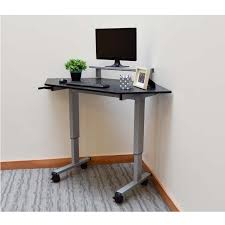 full size desk simple stand. Luxor Adjustable Height Stand Up Corner Desk (Silver And Black) STANDUP-CCF60-B Full Size Simple