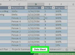 Track Progress In Excel How To Track Multiple Projects In Excel On Pc Or Mac 13 Steps