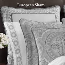 furniture nyc silver colette silver piped sham european o  colette silver piped sham europe