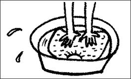 ニットのご家庭での洗濯方法手洗い方法 無印良品