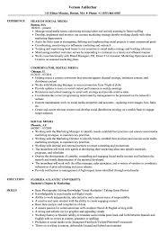 Sample Social Media Resume Social Media Resume Samples Velvet Jobs 53