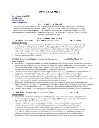 Medical Technologist Microbiology Resume Sample Pharmaceutical