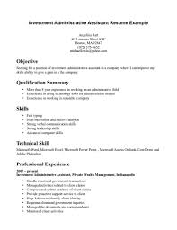 Sample Resume For Administrative Assistant Position Cover Letter Objective For Resumes General Resume Examples Of 46