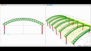 Steel Arch Truss Design Sap2000 Modeling Analysis And Design Of Space Truss Triangular Arch Truss 01 02