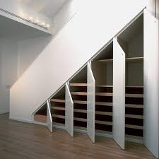 modern walk in closet as with multi door for under stair storage solving