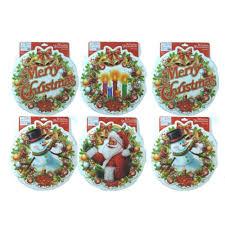 6 Große Fensterbilder 30cm Sticker Für Weihnachten