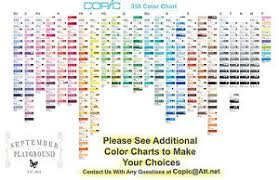 Copic Swatch Chart Copic Markers Color Chart 2019 Copic Color Swatch Book 14172