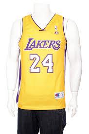 Rare Vintage Champion Kobe Bryant 24 Yellow Los Angeles
