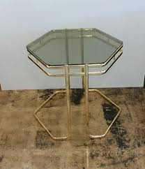 smoked glass hexagon side table
