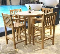 outdoor bar table and chairs. Patio Bar Table Set Classic Teak Height And Chair Sets . Outdoor Chairs