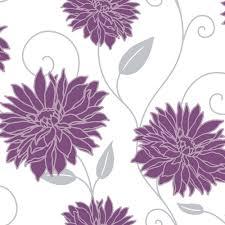 Purple Flower Wallpaper For Bedroom Purple White And Silver Wallpaper My New Room Pinterest