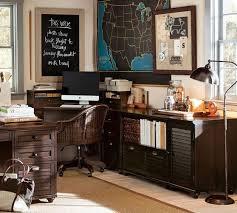 pottery barn office. whitney 5drawer corner desk almond white pottery barn office