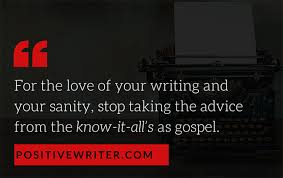 the best advice i ever received on writing and it might be the writingadvice