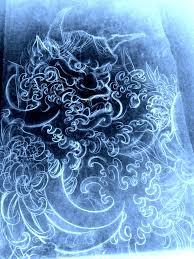 маска демона ханья японская рукав Slava Starkov