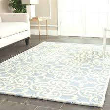 moroccan trellis area rug 8x10 handmade light blue wool