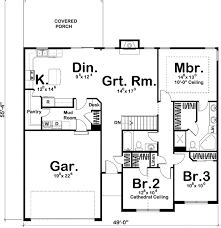 simple one story floor plans. Unique Plans Simple Single Story Home Plan 62492DJ Architectural One Floor House  Plans  Intended One Floor Plans E