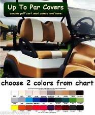 club car precedent golf club car precedent golf cart front seat cover set flat stripe staple on
