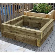 new green eco treated softwood raised