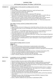 Intelligence Resume Operations Intelligence Resume Samples Velvet Jobs 17