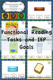 functional reading tasks and iep goals autism classroom resources functional reading tasks and iep goals