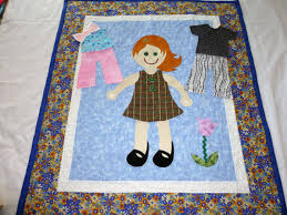 Dress Me Doll Quilt. Here is another adorable redheaded doll quilt ... & Dress Me Doll Quilt. Here is another adorable redheaded doll quilt. She  comes with Adamdwight.com