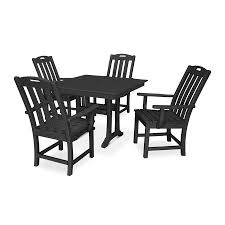 Trex Outdoor Furniture Yacht Club 5 Piece Black Frame Dining Patio