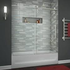 brushed nickel sliding shower door large size of inch shower door oil rubbed bronze bathtub doors