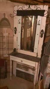 another make up vanity from an old door