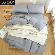 king single quilt cover solid color bed sheet pillow case style grey bedding set single quilt